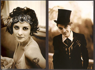 Mario, a magician, and his assistant, Katie, have a 1920s-themed wedding.